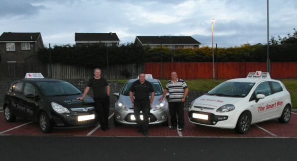 The rouges gallery!          Three of our instructors with their vehicles